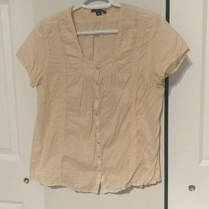 Tommy Hilfiger Lace and Cotton Blouse